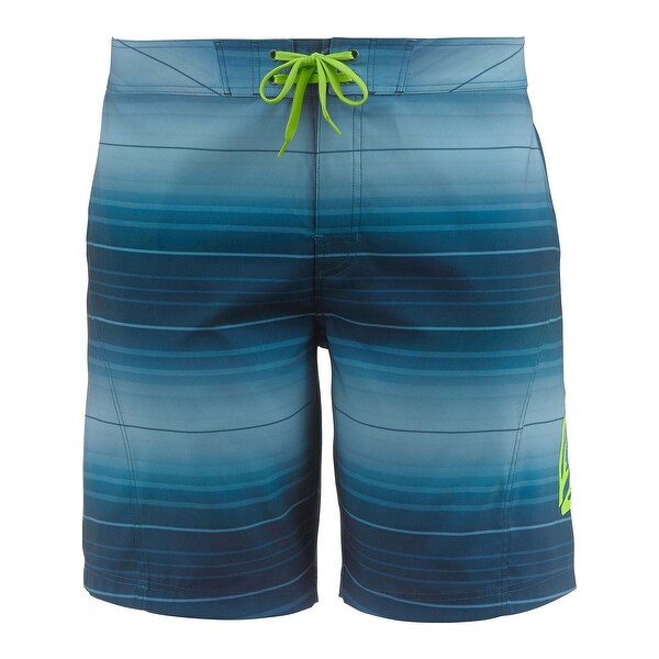 Legendary Whitetails Men's Round Lake Ombre Board Shorts - dark aqua ombre