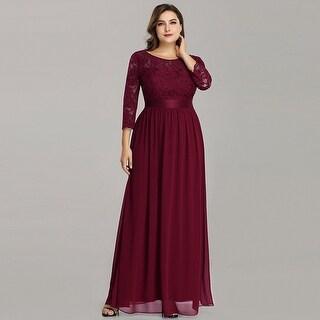 Ever-Pretty Women's Plus Size Elegant Lace Evening Party Dresses 74122