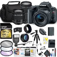 Canon EOS Rebel SL2 DSLR Camera with 18-55mm & 75-300mm Lens