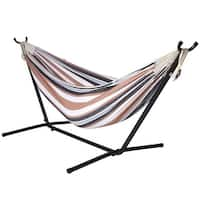 Ivation Camping Hammock with Stand - Double Hammock Swing - for Garden, Outdoor & Indoor
