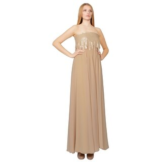 Tadashi Latte Prom Dress - 8