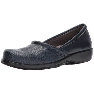 SoftWalk Women's Adora Flat, Navy, Size 7.5