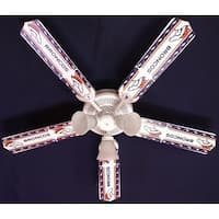 Denver Broncos NFL Print Blades 52in Ceiling Fan Light Kit - Multi