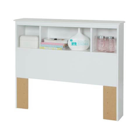 South Shore Pure White Crystal Twin Bookcase Headboard Only