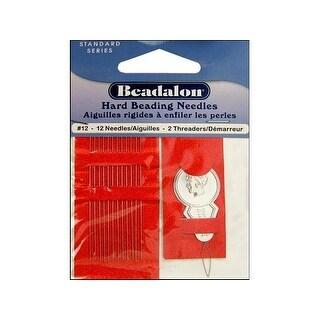 Beadalon Beading Needle Hard Size 12 12pc