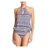 Echo Design Womens Printed Halter One-Piece Swimsuit