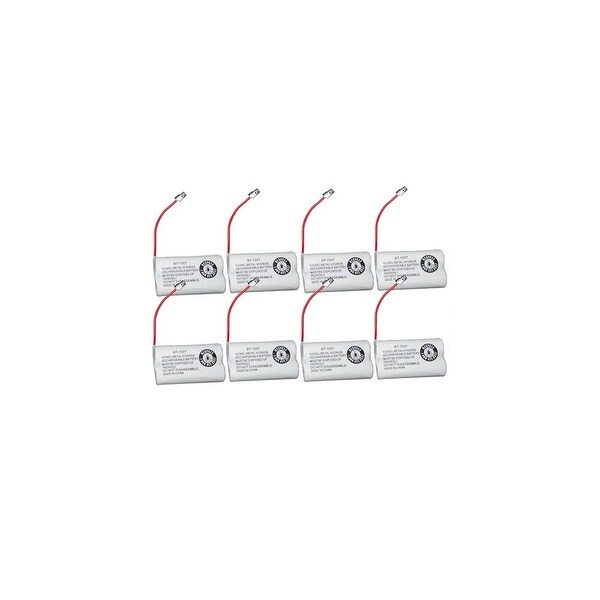 Replacement Battery For Uniden DECT1480-3 Cordless Phones - BT1007 (600mAh, 2.4V, Ni-MH) - 8 Pack