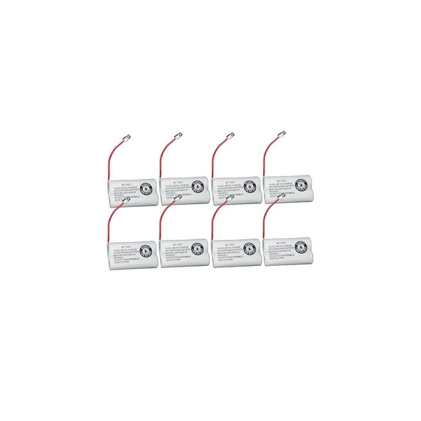 Replacement Battery For Uniden DECT1480-4 Cordless Phones - BT1007 (600mAh, 2.4V, Ni-MH) - 8 Pack