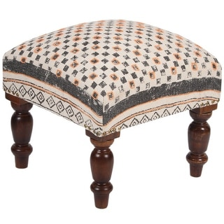 """Link to Handmade Indo Upholstered Footstool - 16"""" L x 16""""W x 16"""" H Similar Items in Living Room Furniture"""