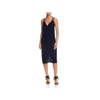 Ella Moss Womens Serene Slip Dress Velvet Midi