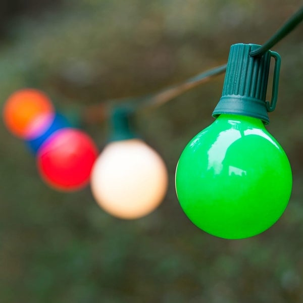 Wintergreen Lighting 70903 25 Bulb 25 Foot Long Incandescent Decorative Holiday String Lights with Green Wire