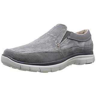 Skechers Mens Hinton-Olmos Canvas Memory Foam Loafers