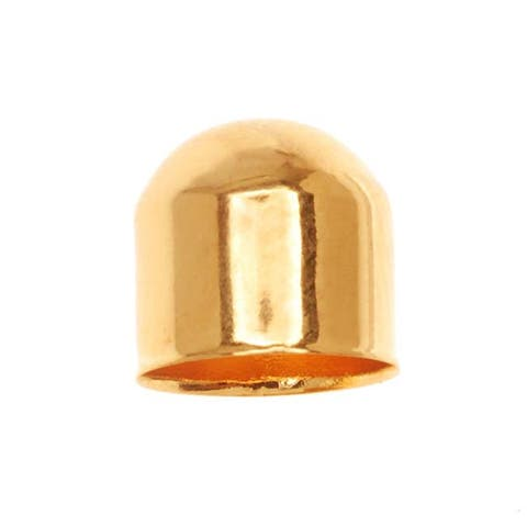 22K Gold Plated Large Capsule Bead Caps 8x8mm (10)