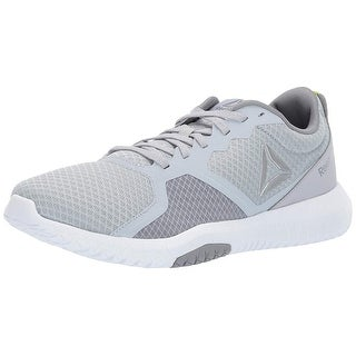 Reebok Mens Flexagon Force Cross Trainer , Adult, Cold Grey/White/Neon Lime