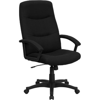 Offex High Back Black Fabric Executive Swivel Office Chair