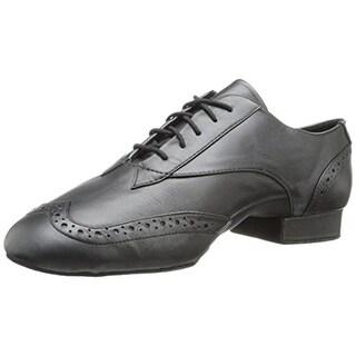 Capezio Mens Travis Leather Wingtip Dance Shoes - 7 wide (e)