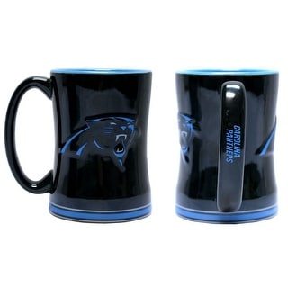 Carolina Panthers Coffee Mug 14oz Sculpted Relief