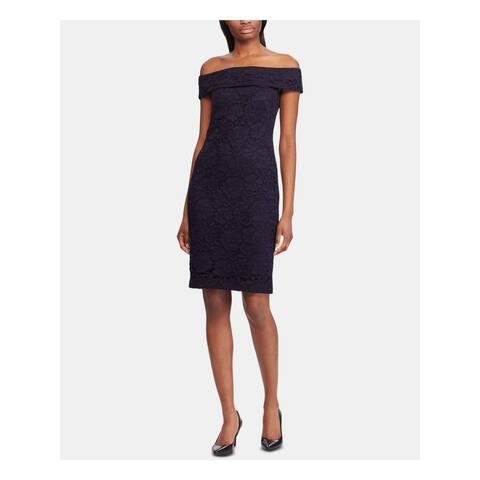 RALPH LAUREN Navy Sleeveless Knee Length Dress 2