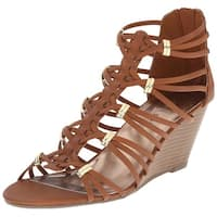 Madden Girl Women's Hoist Wedge Sandal - cognac paris - 11