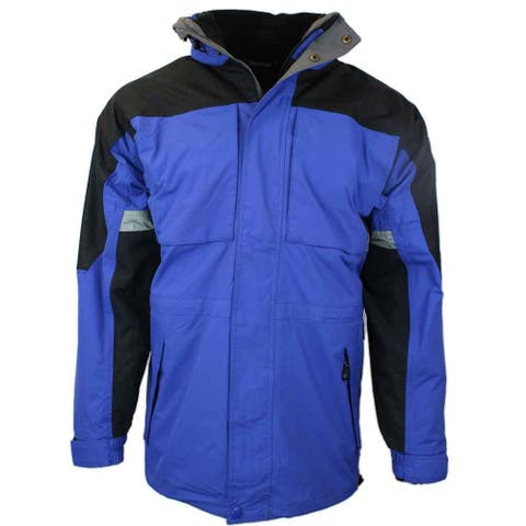 River's End Mens 3/4 Length 3-In-1 Jacket Outdoor Outerwear Jacket