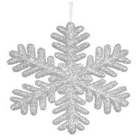 Vickerman M147307 Silver Glitter Snowflake Ornament - 13.75 in.