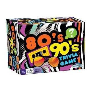 80's 90's Trivia Game - Retro Party Game Portable Car Activity - Ages 12 and Up - MultiColor