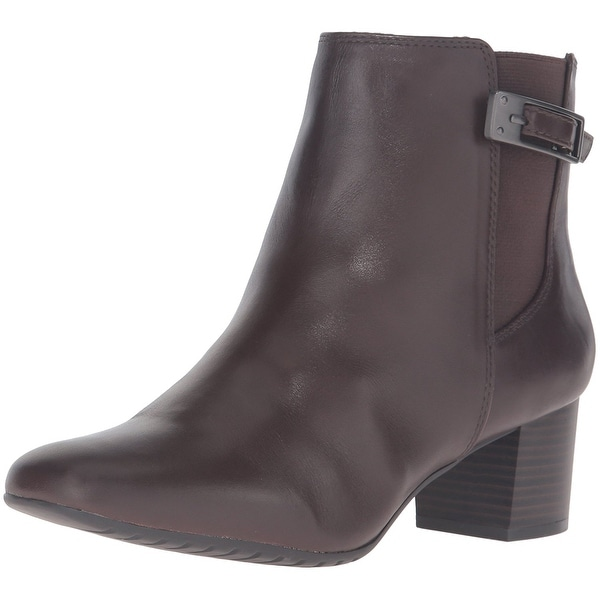 Bandolino Womens Lethia Leather Closed Toe Ankle Fashion Boots