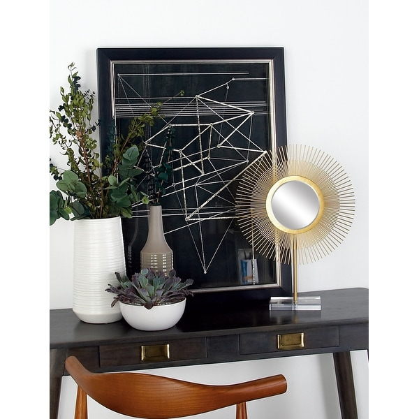Gold Iron Glam Sculpture Geometric (Set of 2). Opens flyout.