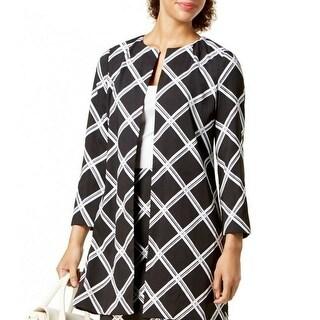 Link to Alfani Women's Jacket Deep Black Size XL Plaid Print Jewel Collar Similar Items in Women's Outerwear