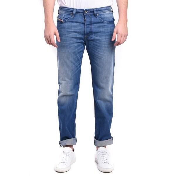 Diesel Buster Men's Regular Slim-Tapered Denim Jeans 0663D