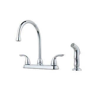 Pfister G136-500 Pfirst Series Gooseneck Kitchen Faucet with Sidespray