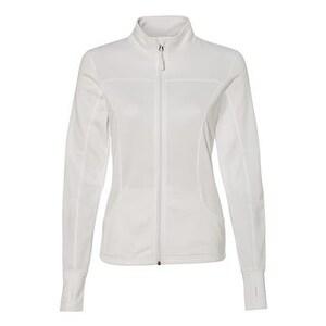 Women's Poly-Tech Full-Zip Track Jacket - White - M
