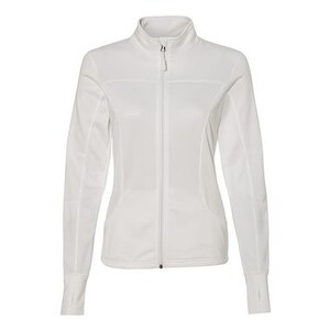 Women's Poly-Tech Full-Zip Track Jacket - White - XL