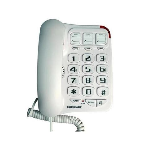 Golden eagle go-gee3104wh big button phone with speakerphone white