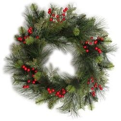 - Traditional Berry Pine Wreath 24""