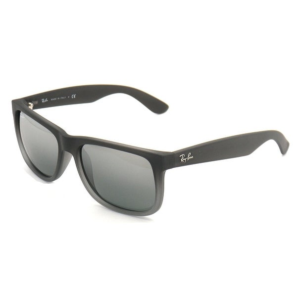 84cbbc5868 Shop Ray-Ban RB4165 55mm Justin Sunglasses (Rubber GrayTransparent Silver  Mirrored Lens) - Free Shipping Today - Overstock.com - 18900100