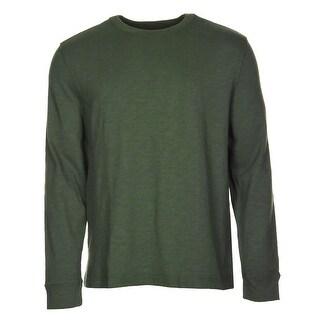 Tommy Hilfiger Cotton Crewneck Sweater Black Forest Green Large - L