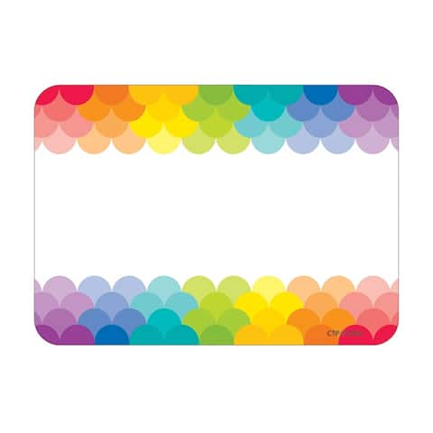 Painted Palette Rainbow Labels Scallops