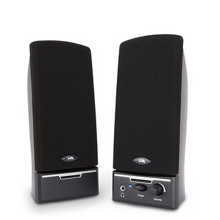 Cyber Acoustics 2.0 Amplified Speaker System Delivering Quality Audio CA-2014WB