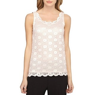 Tahari ASL Floral Lace Tank Top Blouse - xL