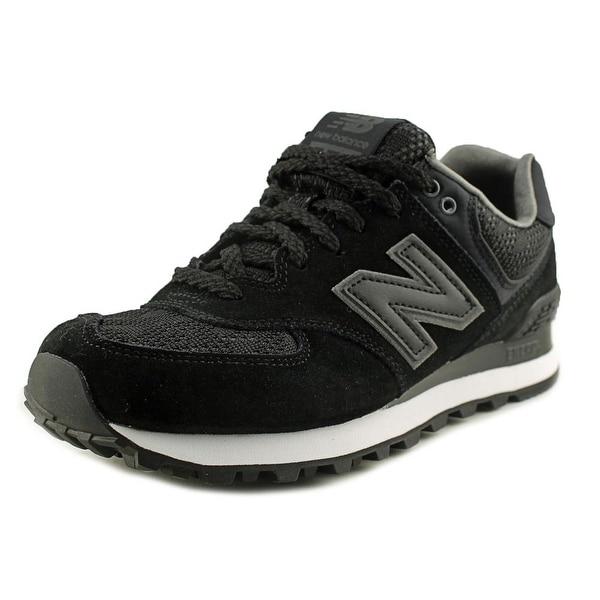 New Balance WL574 Women  Round Toe Suede Black Walking Shoe