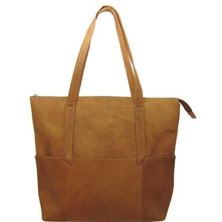 Iris Tyler Tan 10080 Tote Bag With Front Pockets and Straps