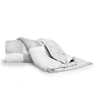 CoCaLo Collection Mix & Match Patchwork Faux Fur Blanket (Option: Silver)