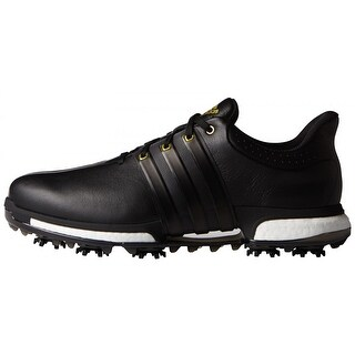 Adidas Men's Tour 360 Boost Black/Gold Metallic Golf Shoes F33250/F33262