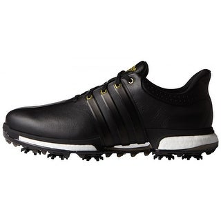 Adidas Men's Tour 360 Boost Black/Gold Metallic Golf Shoes F33250