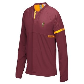 Adidas Cleveland Cavaliers NBA Men's On-Court Warm-Up Full Zip Jacket, 2XL - Red