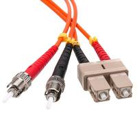 Offex Fiber Optic Cable, SC / ST, Multimode, Duplex, 50/125, 2 meter (6.6 foot)