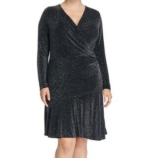 Michael Kors NEW Black Silver Women's Size 1X Plus Sheath Dress
