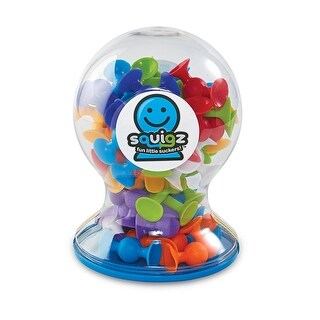 Fat Brain Toys Squigz Little Suckers Building Toy - 50 Piece Deluxe Set