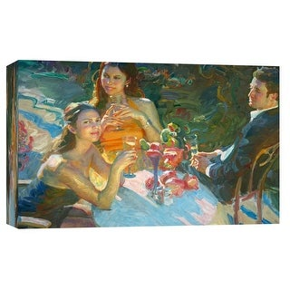 "PTM Images 9-101726  PTM Canvas Collection 8"" x 10"" - ""The Reception"" Giclee Men and Women Art Print on Canvas"